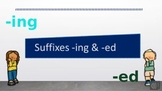 Distance Learning Suffixes -ing & -ed Power point and Goog