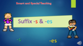 Distance Learning Suffixes -s and -es Powerpoint & Google