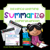 Distance Learning  |  Summarizing  |  Google Slides