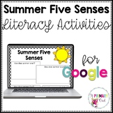 Distance Learning: Summer Five Senses Literacy Activities
