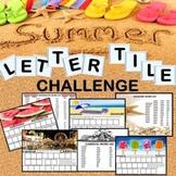 Distance Learning Summer Letter Tile Challenge Build a Word
