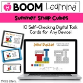 Distance Learning Summer Snap Cube - Digital Snap Cube Act