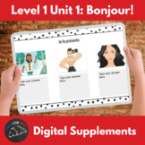 Distance Learning Supplements for unit 1: Bonjour!