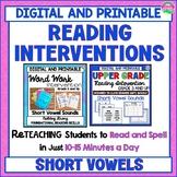 Short Vowel Reading Intervention for Upper Elementary Stud