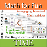 Distance Learning TIME Math for Fun activity unit printable set