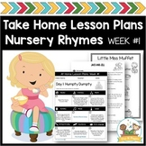 Nursery Rhyme Lesson Plans Vol 1 Preschool & Pre-K (Distan