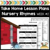 Nursery Rhyme Lesson Plans Vol 2 Preschool & Pre-K (Distan