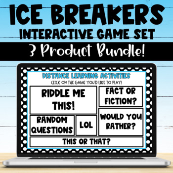Distance Learning Team Building Games BUNDLE for Google Meet & Zoom