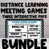 Distance Learning Team Building Games BUNDLE for Google Me