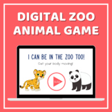 Distance Learning & Telehealth Zoo Animal Powerpoint Game