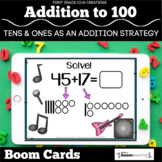 Tens and Ones as an Addition Strategy to 100 | Boom Cards