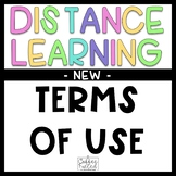 Distance Learning Terms of Use