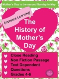 Distance Learning ~ The History of Mother's Day for Google Slides