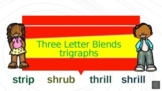 Distance Learning Three Letter Blends Trigraphs Power poin