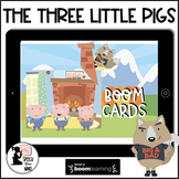 Three Little Pigs Boom Cards™ Story & Activities & Sequenc