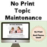 Distance Learning - Topic Maintenance - No Print