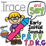 Trace and Say Initial Sounds for Speech Therapy Boom Cards