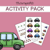 Busy Book Pages with Transport and Construction Theme Montessori Inspired