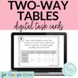 Two-Way Tables Digital Task Cards