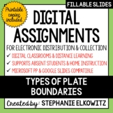 Distance Learning - Types of Plate Boundaries Digital Assignments