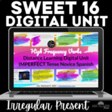 Distance Learning Unit - High Frequency Verbs - Sweet 16 S