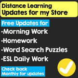 Distance Learning Updates for My Store (If you own it, dow
