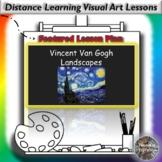 Distance Learning Vincent Van Gogh Landscapes Visual Art L