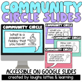 Distance Learning   Virtual 120 COMMUNITY CIRCLE QUESTIONS
