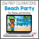 Distance Learning: Virtual Beach Party for Zoom or Google Meet