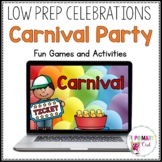Distance Learning: Virtual Carnival for Zoom or Google Meet
