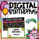 Distance Learning- Virtual Class Birthdays - Google Slides