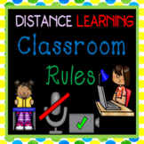 Distance Learning Virtual Classroom Rules Posters