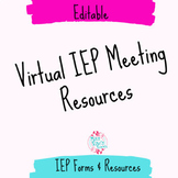 Distance Learning Virtual IEP Meeting Resources for Specia