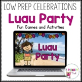 Distance Learning: Virtual Luau Party for Zoom or Google Meet