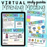 Distance Learning: Virtual Morning Meeting for Early Grade