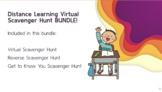 Distance Learning: Virtual Scavenger Hunt BUNDLE!