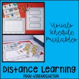 Distance Learning Visual Schedule and Printables