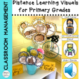 Distance Learning Visuals for Primary Grades to Support Classroom Management