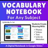 Digital Vocabulary Graphic Organizer   Vocabulary Template