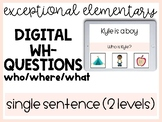 Distance Learning WH- Questions Reading Comprehension Inte