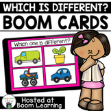 Distance Learning- WHICH IS DIFFERENT? Boom Cards Boom Deck