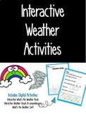 Distance Learning-Weather Adapted Book and Activities