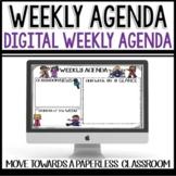 Distance Learning Weekly Agenda Newsletter   Google Slides