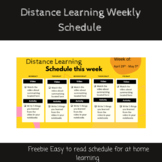 Distance Learning Weekly Schedule *EDITABLE*