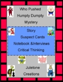 Distance Learning Who Puhsed Humpty Dumpty CSI Lesson