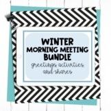 Distance Learning: Winter Morning Meeting GROWING Bundle