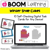 Winter Digital Snap Cubes | BOOM Cards™ Distance Learning