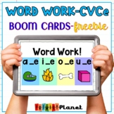 Distance Learning Word Work Phonics CVCe Boom Cards™
