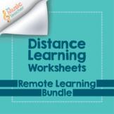 Distance Learning Worksheets | Remote Music Bundle