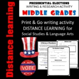 Distance Learning Writing Activity - Presidential Election